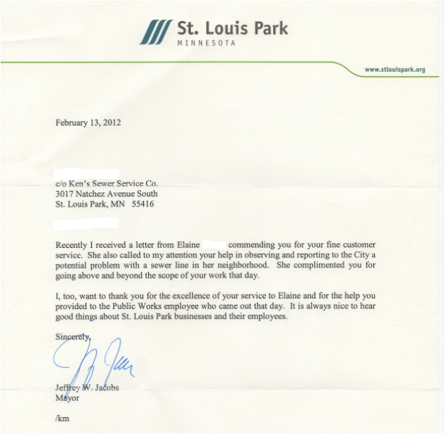 St louis park thank you letter from the major minneapolis share this expocarfo Choice Image