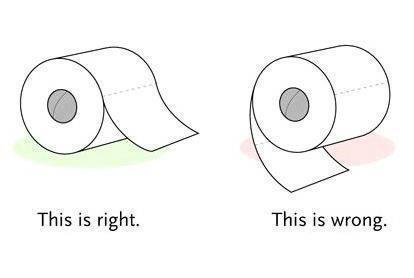 Which way is really the right way to use toilet paper?